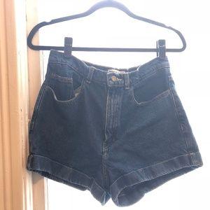 High Waisted Jean Shorts Medium Wash